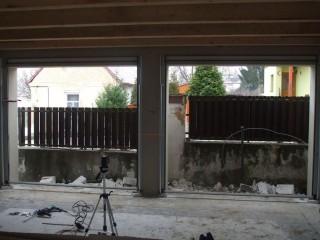 Příprava pro sekční garážová vrata, JH-vrata Hlinovský